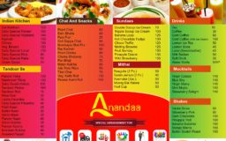 Menu Design – Ananda Sweets